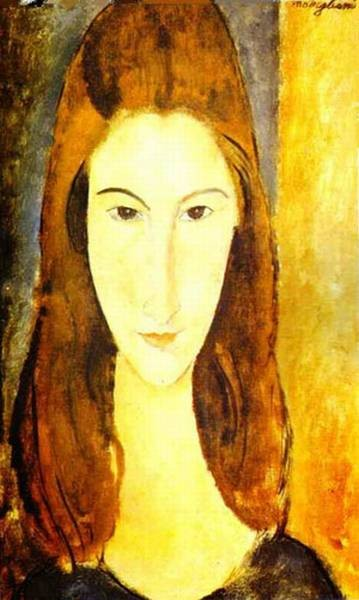 portrait of jeanne hebuterne 1898 1920 common law wife of amedeo modigliani 2 1919 XX private collection